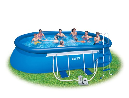 Intex Ovaal Frame Pool 610x366x122 cm.