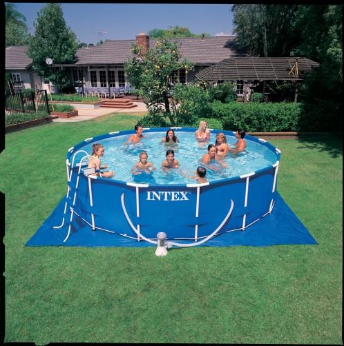 Intex Metaal Frame Pool 457 x 107 cm. Set
