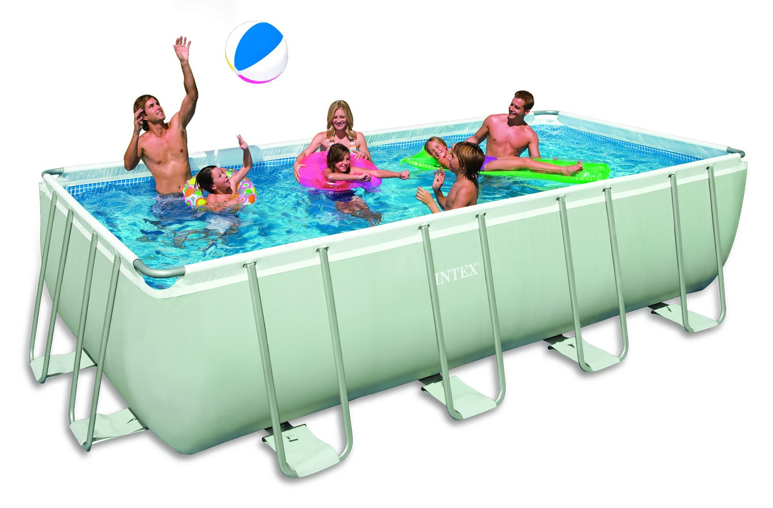 Intex ultra rectangular 549x274x132 cm met zandfilter for Zwembad met filter aanbieding