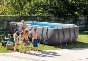 Intex Rectangular Metaal Frame Pool