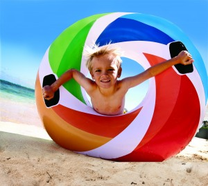 Intex Zwemband Color Whirl Tube 119 cm.