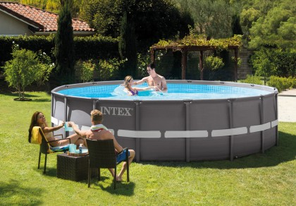 Intex Ultra Frame Pool 488x122 cm. Set met zandfilterpomp