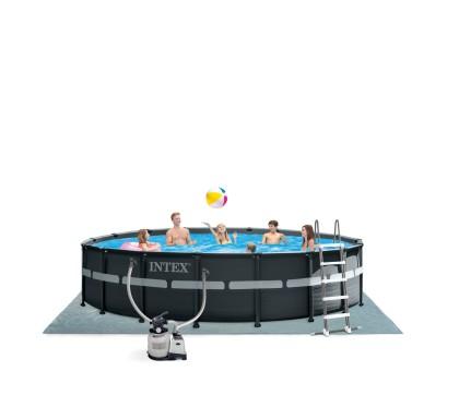 Intex XTR Ultra Metaal Frame Pool 549x132 cm.Set met Zandfilter