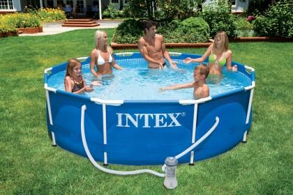 Intex Metaal Frame Pool 305x76 cm met filterpomp van 2.271 liter
