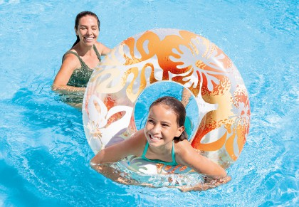 Intex Grote kleurige zwemband 91 cm