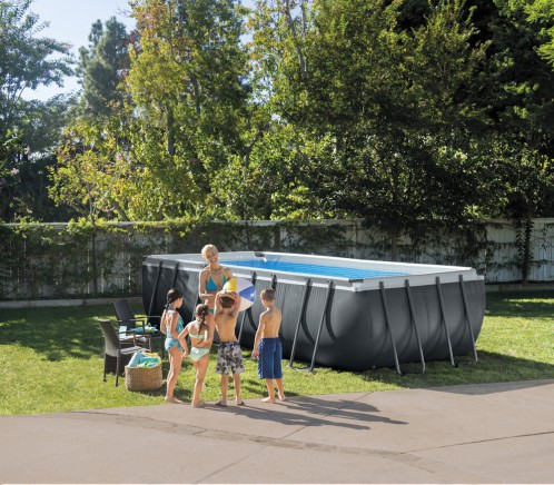 Intex Rectangular XTR Metaal Frame Pool
