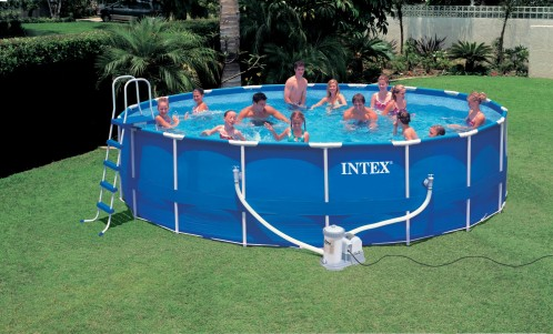 Intex Metaal Frame Pool 549x122 cm.