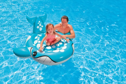 Intex Blauwe Walvis Ride-On