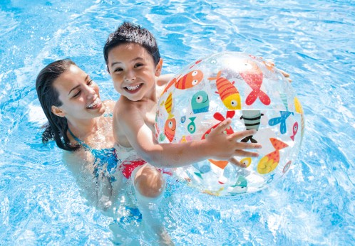 Intex Strandbal Lively Print Bal 61 cm.