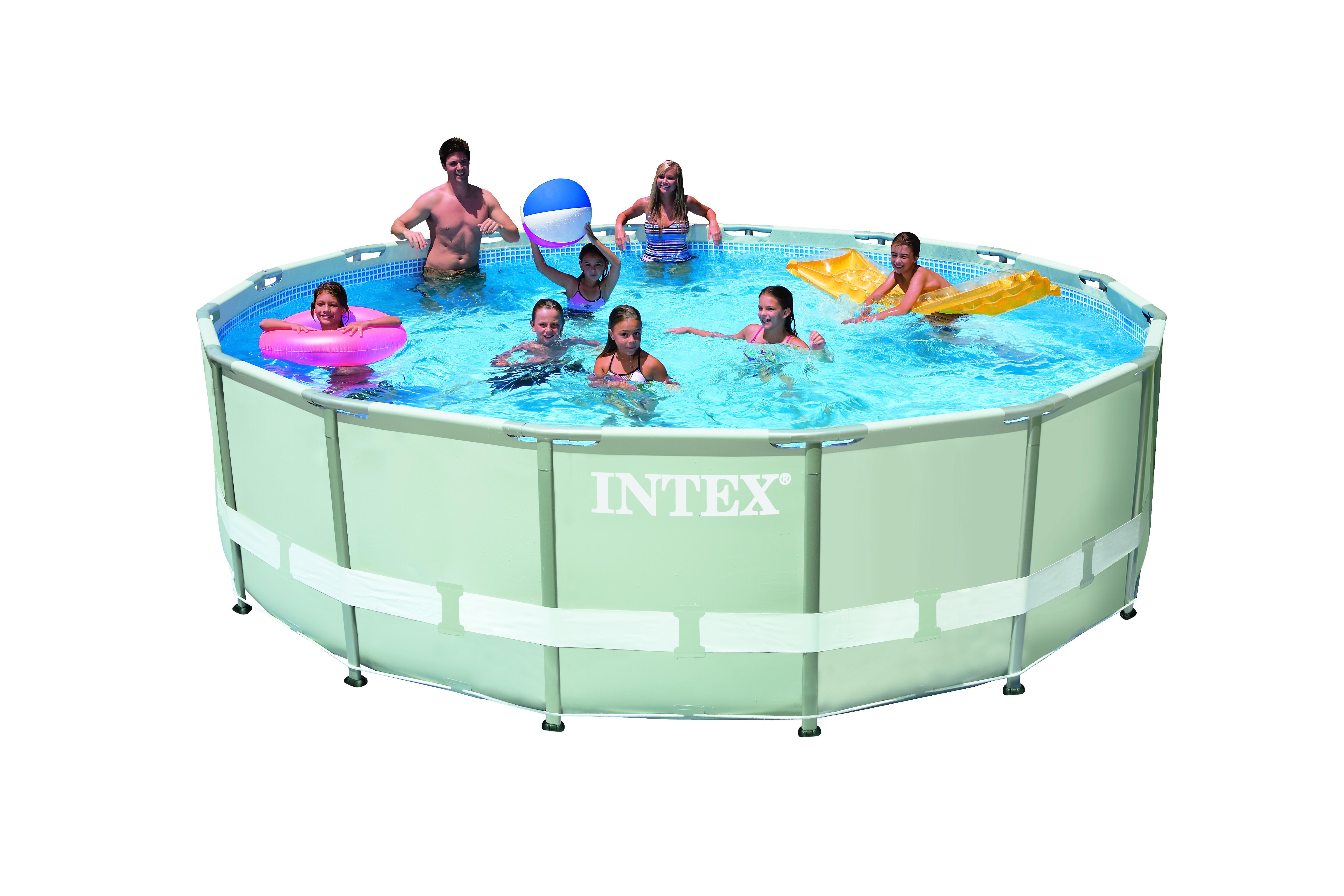 Intex ultra frame pool 427x107 cm set met filterpomp for Filterpomp zwembad intex