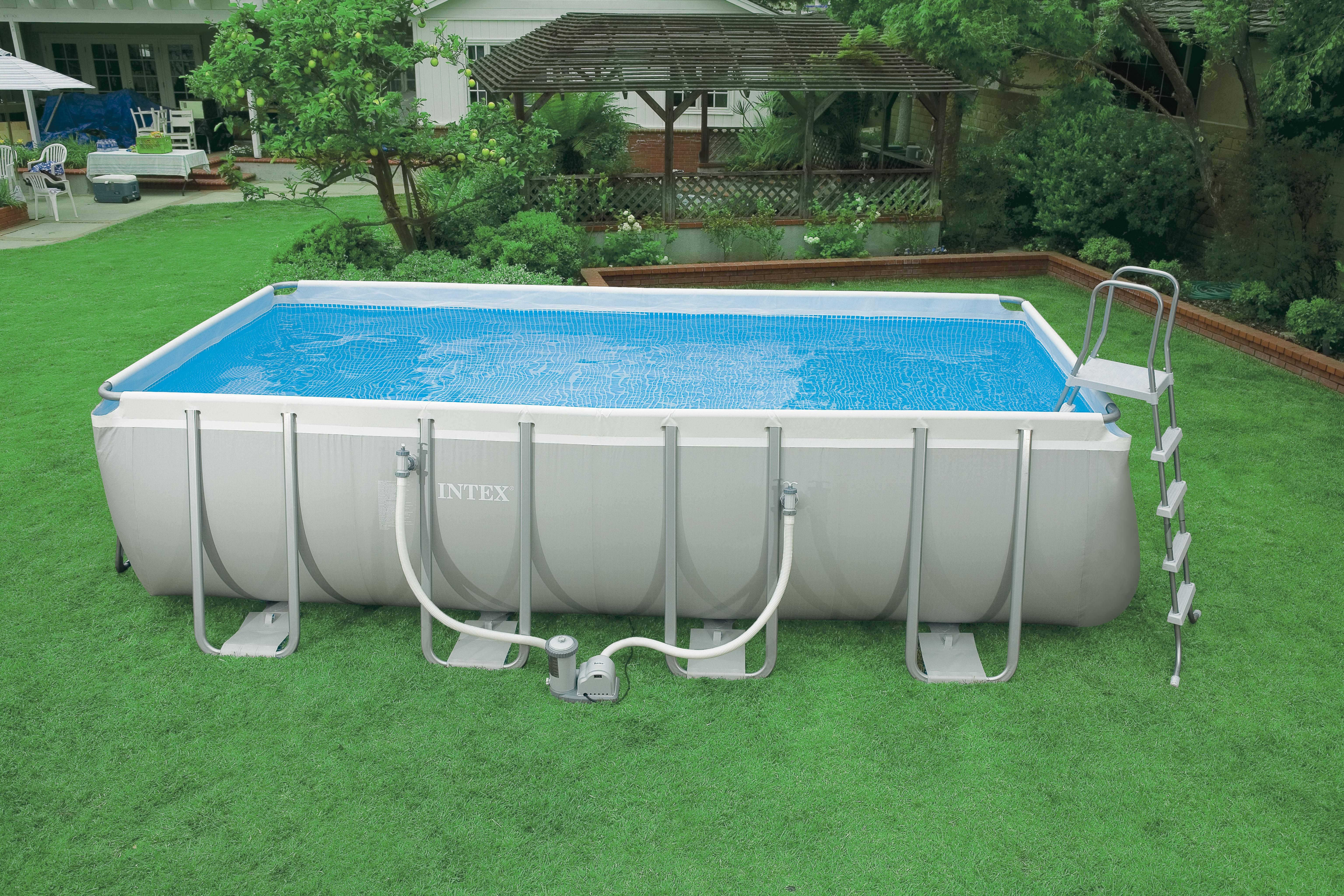 Intex ultra rectangular 549x274x132 cm met zandfilter for Zwembad intex te koop